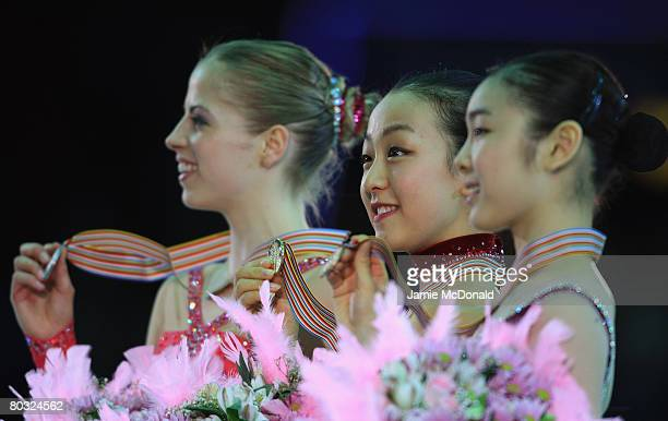 Mao Asada of Japan wins Gold during her Free Skate during the ISU World Figure Skating Championships at the Scandinavium Arena on March 20 2008 in...