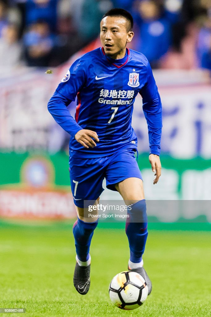 Mao Jianqing of Shanghai Shenhua FC in action during the AFC Champions League 2018 Group H match between Shanghai Shenhua (CHN) vs Suwon Samsung Bluewings (KOR) at Hongkou Stadium on 13 March 2018, in Shanghai, China.