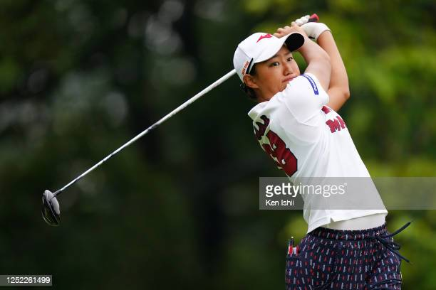 Mao Nozawa of Japan hits her tee shot on the 1st hole during the first round of the Earth Mondamin Cup at the Camellia Hills Country Club on June 25...
