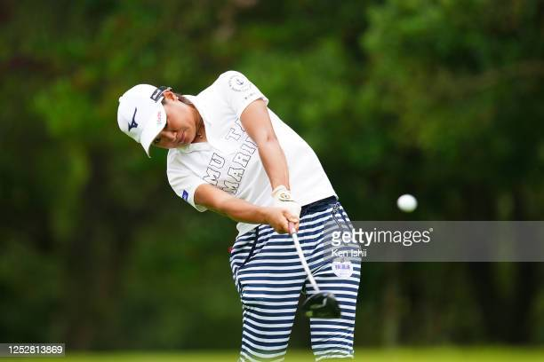 Mao Nozawa of Japan hits her tee shot on the 6th hole during the third round of the Earth Mondamin Cup at the Camellia Hills Country Club on June 27...