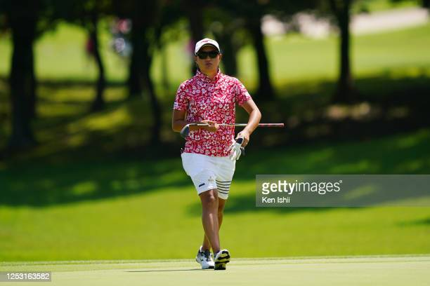 Mao Nozawa of Japan is seen on the 5th green during the final round of the Earth Mondamin Cup at the Camellia Hills Country Club on June 29 2020 in...