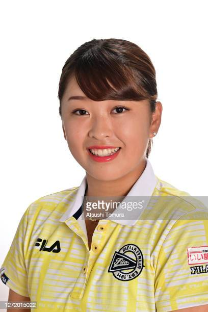 Mao Saigo of Japan poses during the JLPGA portrait session on September 7 2020 in Kasaoka Okayama Japan
