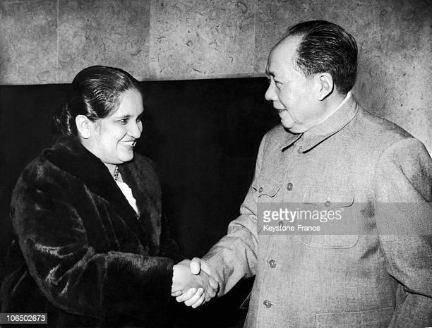 Mao Tse Tung And Sirima Bandaranaike 1963