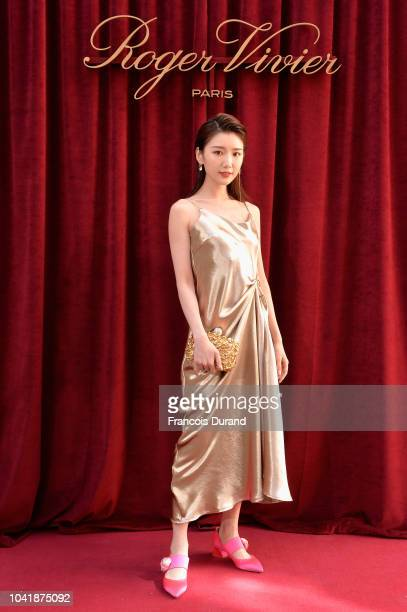 Mao Xiaotong attends the Roger Vivier Presentation Spring/Summer 2019 during Paris Fashion Week on September 27 2018 in Paris France