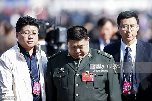 Mao Xinyu grandson of Chairman Mao Zedong and who's also a Major General in the People's Liberation Army arrives for the Closing Ceremony of the...