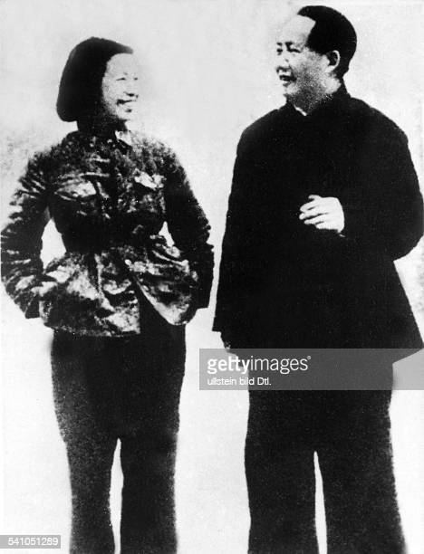 Mao Ze Dong *26121893 Politician Chairman of the Communist Party of China People's Republic of China Mao and his wife Jiang Qing undated approx in...