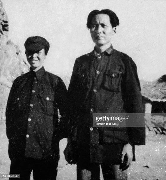 Mao Ze Dong *26.12.1893-+ Politician; Chairman of the Communist Party of China; People's Republic of China Mao and his second wife Ho Zhou Xen ,...
