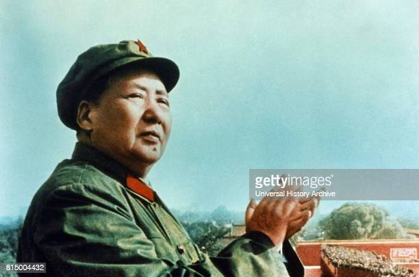 Mao Zedong 1893 1976 Chinese communist revolutionary and founding father of the People's Republic of China which he ruled as Chairman of the...