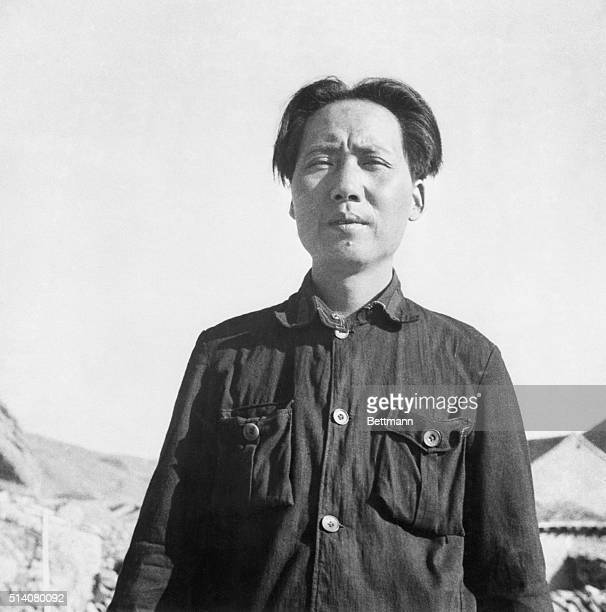 Mao Zedong as a fairly young man in the Communist Base Area in Yanan in the northern part of Shaanxi Province China 1937