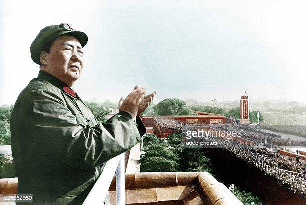 Mao Zedong , Chinese statesman . Ca. 1950. Coloured photograph.