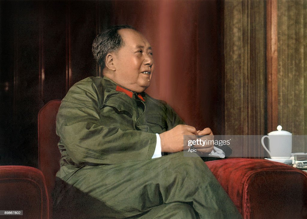 Mao Zedong (1893-1976) president of chinese communist party, then president of China in 1949-1959 and 1968-1976, here c. 1966 : News Photo