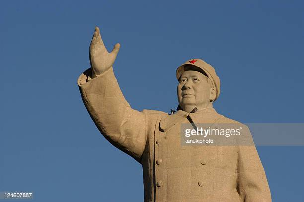 mao zedong statue - dictator stock pictures, royalty-free photos & images
