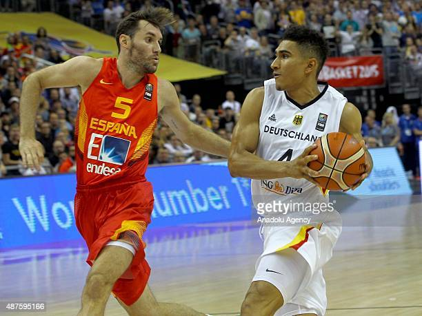Maodo Lo of Germany in action against Rudy Fernandez of Spain during the EuroBasket 2015 Group B basketball match between Germany and Spain at...