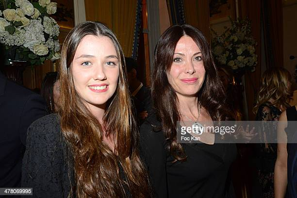 Maora Cerrone and Jill Cerrone attend Sauvons Saint Cloud Auction Ceremony Dinner at Hotel Interallie on March 11 2014 in Paris France