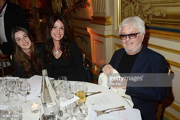 Maora Cerrone Jill Cerrone and Marc Cerrone attend Sauvons Saint Cloud Auction Ceremony Dinner at Hotel Interallie on March 11 2014 in Paris France