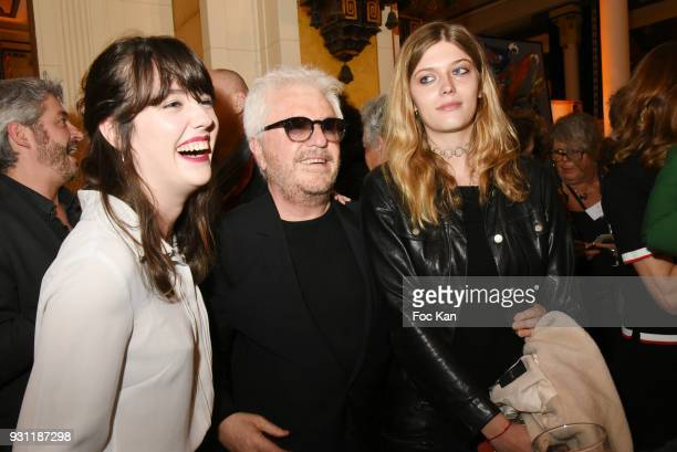 Maora Cerrone Marc Cerrone and Lea Rostain attend Marc Cerrone Exhibition Preview at Deux Magots on March 12 2018 in Paris France