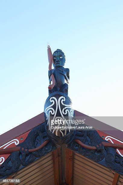 Maori carving on roof, Auckland, New Zealand