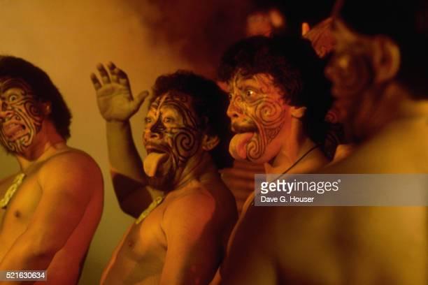 Maori Dancers Performing Haka