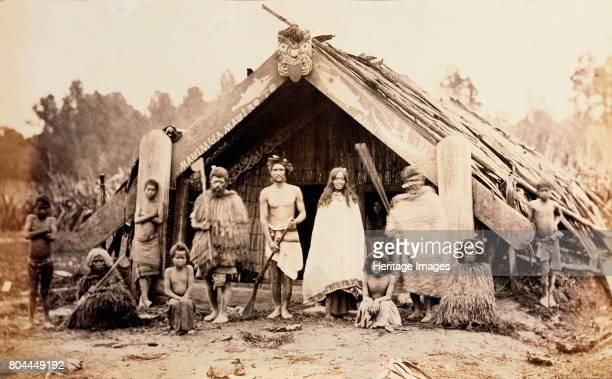 Maori family New Zealand c1880s Artist Unknown