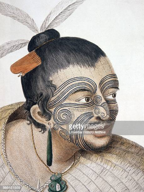 Maori man known as Rachel and Maygen 1769 by Sydney Parkinson 17451771 artist on Captain Cook's 1st voyage to New Zealand in 1769