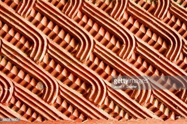 Maori wood carving pattern