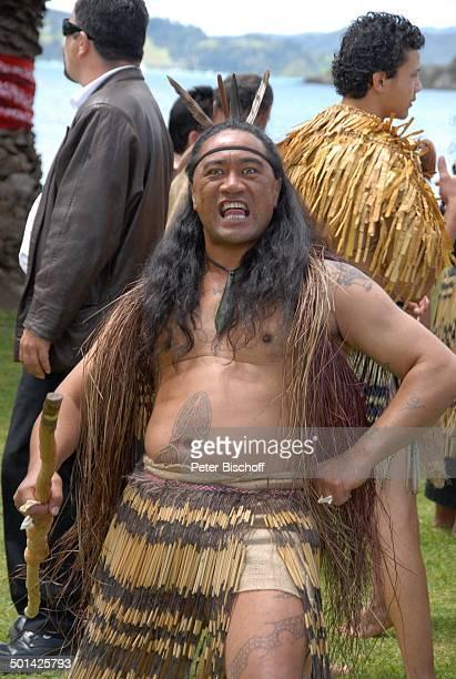 MaoriHochzeit am Rande der Dreharbeiten zur ZDFReihe 'Kreuzfahrt ins Glück' Folge 2 'Hochzeitsreise nach Neuseeland' Paihia / Bay of Islands...