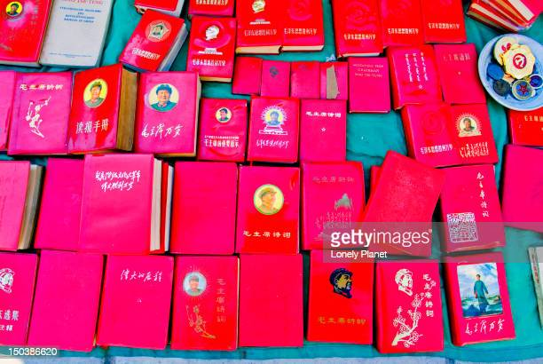 """mao's philosophical """"little red book. - mao tse tung red book stock pictures, royalty-free photos & images"""