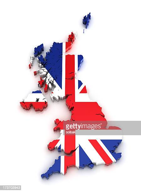 UK map - 3D