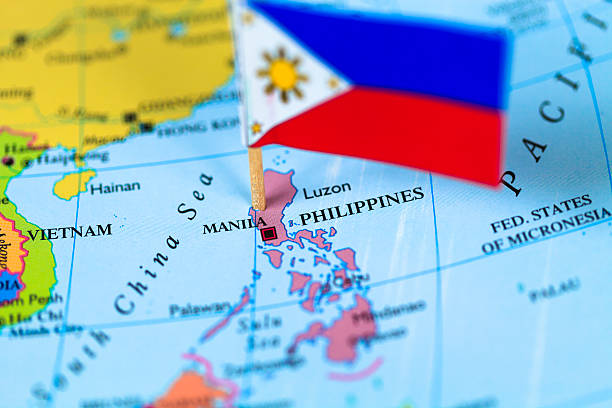 Map and flag of Philippines