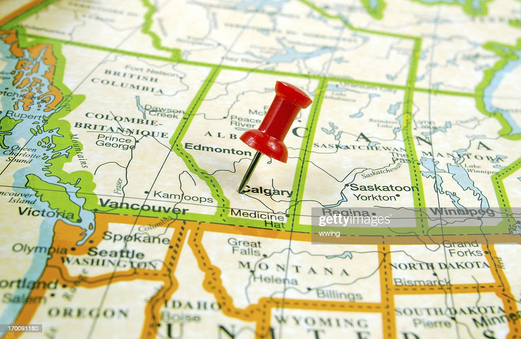Map Calgary Stock Photo Getty Images