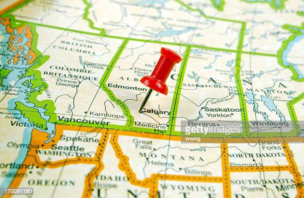 map ... calgary - calgary stock pictures, royalty-free photos & images
