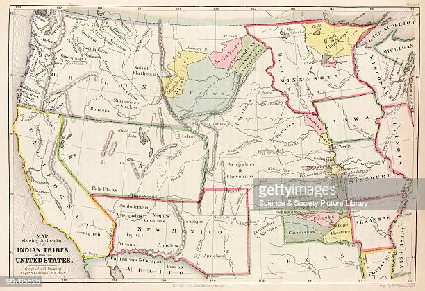 Map compiled and drawn by Captain Seth Eastman US Army and engraved by W Williams In his drawings and paintings soldierartist Eastman sought to...