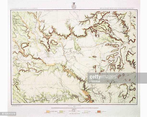A map from a large survey of land in the Western US here showing the land between the Red and Pecos Rivers 1879