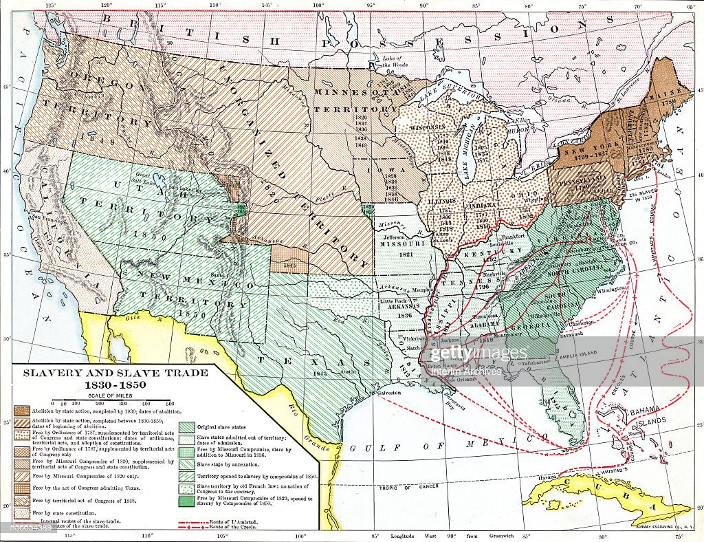 Slavery Slave Trade Pictures Getty Images - Map of the us 1850