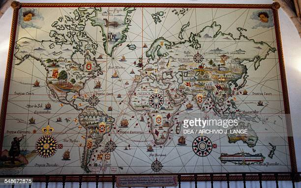 Map illustrating the Portuguese voyages of discovery Lisbon Historical Province of Extremadura Lisbon Portugal Lisbon Museu De Marinha