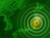 Map Japan Fukushima Nuclear Disaster