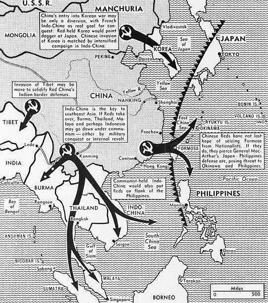 Map of communist advances in east asia pictures getty images map of communist advances in east asia thecheapjerseys Image collections
