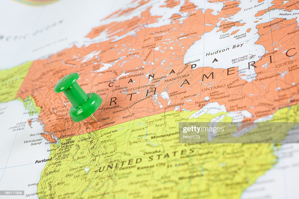 Map north america with pushpin on calgary canada stock photo getty map north america with pushpin on calgary canada stock photo gumiabroncs Gallery