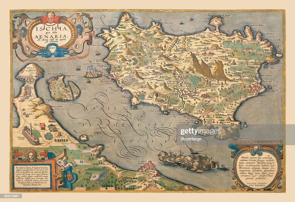 Map of a Mediterranean Island Nachrichtenfoto - Getty Images