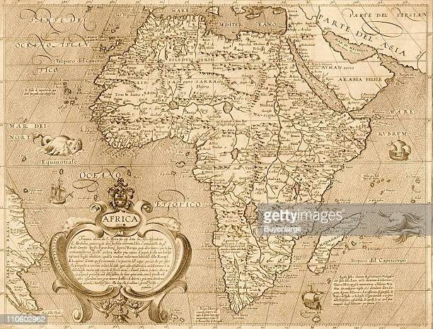 Map of Africa 1603 Illustration by Arnoldi di Arnoldi
