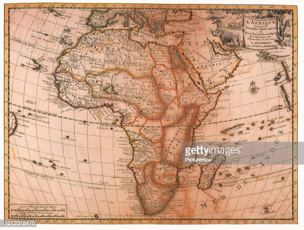 Map of Africa 1720 Delisle Guillaume
