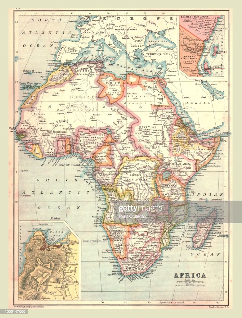 French Africa Map.Map Of Africa 1902 Showing Colonial Possessions Including French
