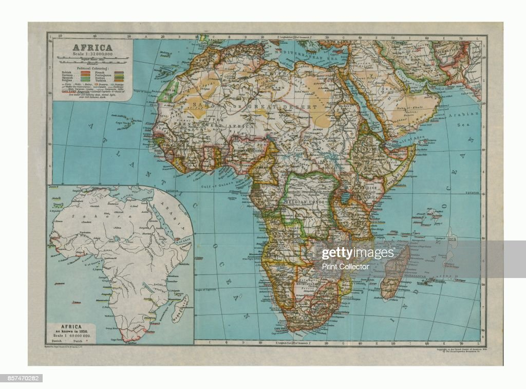 Map Of Africa 1850.Map Of Africa Circa 1910 With Insert As Known In 1850 News