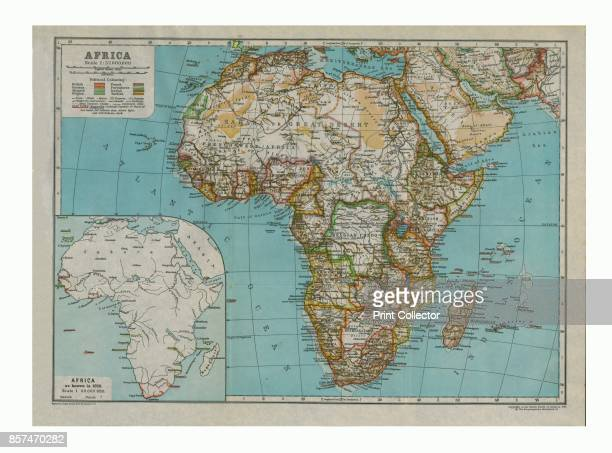Map of Africa circa 1910 with insert as known in 1850 [Encyclopaedia Britannica Co] Artist Gull Engraving Company