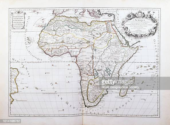 Map Of Africa 1700.Map Of Africa From A French Atlas Dating From 1681 1700 From Atlas