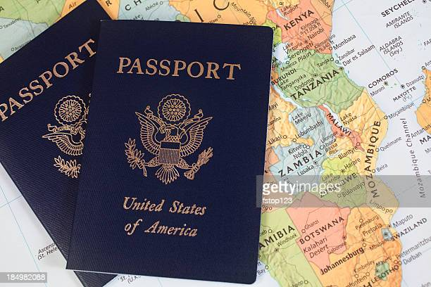 Map of Africa with American Passports