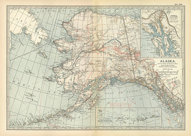 Map Of Alaska Pictures | Getty Images