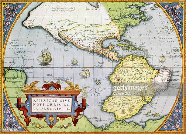 Map of America or the New World in Theatrum Orbis Tearrarum by Abraham Ortelius 1570