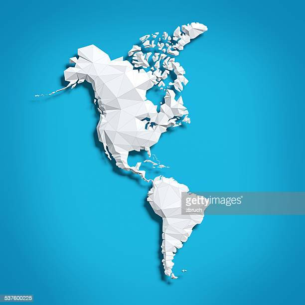map of america - south america stock pictures, royalty-free photos & images