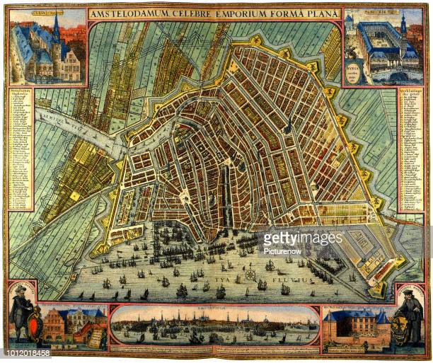 Map of Amsterdam 1633 Mercator Gerardus